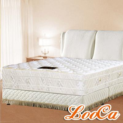 LooCa 風華絕頂四線獨立筒床枕毯組 雙人