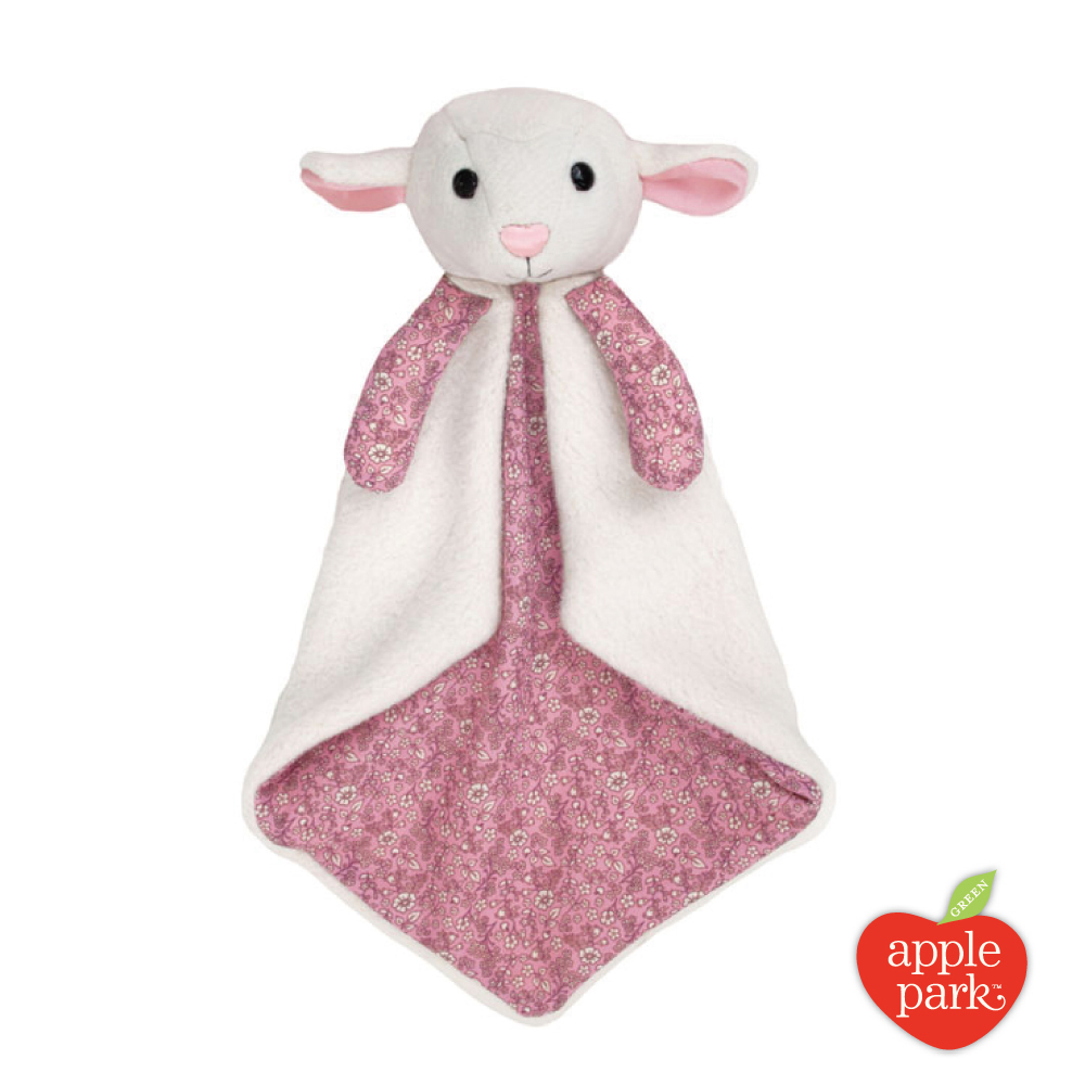 美國 Apple Park 有機棉安撫巾禮盒 - 花瓣小羊