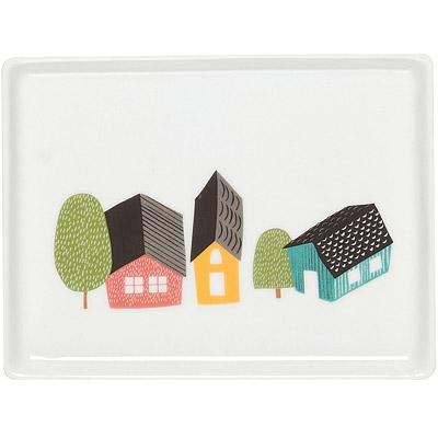 DANICA 方瓷盤(村莊)