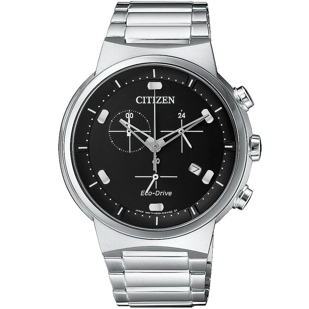 CITIZEN 星辰 夜空星辰計時腕錶(AT2400-81E)-黑/41mm