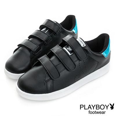 PLAYBOY 簡約生活 單色百搭定番款休閒鞋-黑(女)