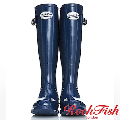 ROCKFISH 時尚百搭顯瘦長筒雨靴 繽粉系列 單寧藍