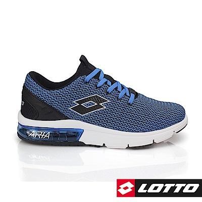 LOTTO 義大利 男 ARIA CHINO氣墊跑鞋(藍)