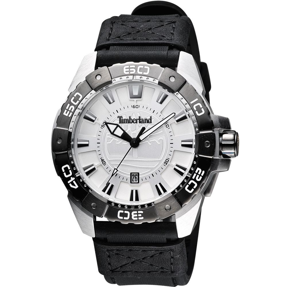 Timberland Original 經典個性腕錶-銀白/44mm
