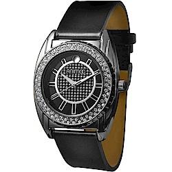 ANIMOO 無與倫比時尚晶鑽腕錶-優雅黑/40mm