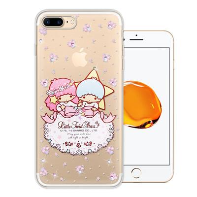 三麗鷗 雙子星仙子 iPhone 8 Plus/ 7 Plus 水鑽系列軟式手機...