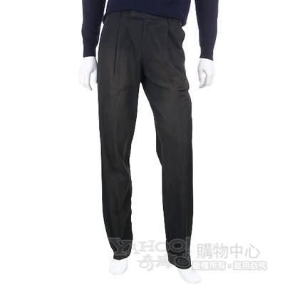 BOSS 黑色復古刷色抓褶休閒長褲