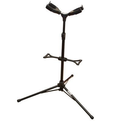 重力自鎖式 專業吉他架 (雙頭/頂背式)