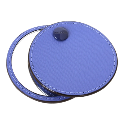 COACH-防刮轉式隨身單面圓鏡-紫