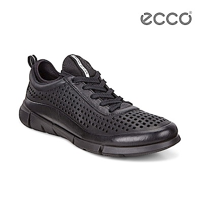 ECCO INTRINSIC 1 都市輕量步行運動鞋-黑