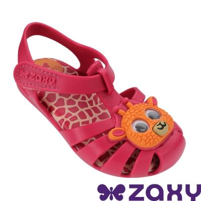 Zaxy 巴西 寶寶 動物甜心寶寶休閒涼鞋-桃紅色