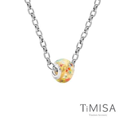 TiMISA 琉璃串珠(任選) 純鈦項鍊 M02O