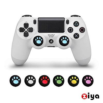 [ZIYA] SONY PS4 遙控手把3D按鈕帽蓋 喵星人 4入(顏色隨機)