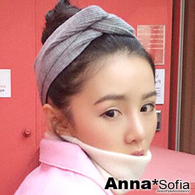 AnnaSofia-直紋變幻交叉結-彈性寬髮帶-花