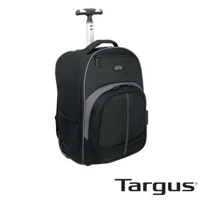 Targus Compact 拉桿後背包(黑灰/16 吋內筆電適用)