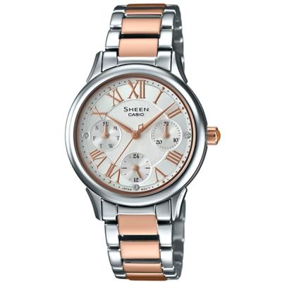 SHEEN羅馬時刻施華洛世奇時尚佳人腕錶(SHE-3049SPG-7)玫瑰金30.5mm