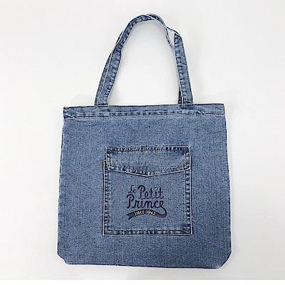 【小王子經典版】 02 (淺藍) -牛仔購物包