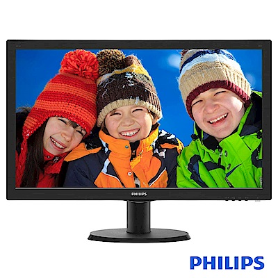 PHILIPS 243V5QHSBA 24型  MVA液晶顯示器