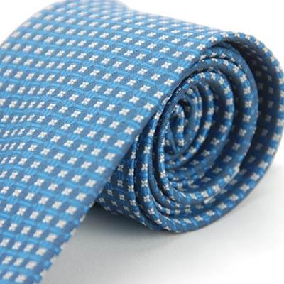Alpaca 淺白藍圖案領帶