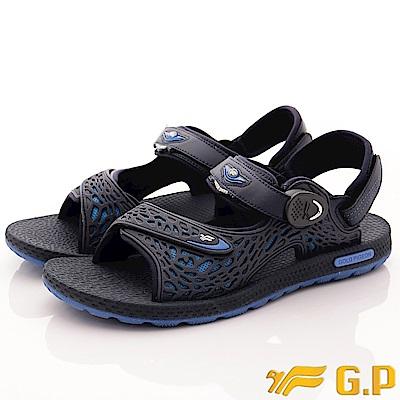 GP時尚涼拖-磁扣兩穿休閒涼鞋 EI660M-20藍(男段)