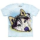 摩達客 美國The Mountain  彩繪哈士奇雪橇犬 純棉環保短袖T恤