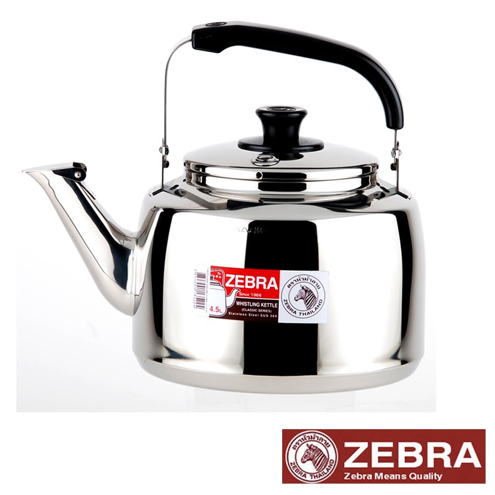 【Zebra 斑馬】不鏽鋼笛音壺(A)-4.5L
