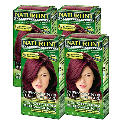 NATURTINT赫本染髮劑 5M淺赤褐棕色(4盒組)