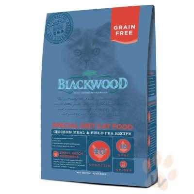 BLACKWOOD柏萊富-特調無穀全齡貓配方(雞肉+豌豆)4磅