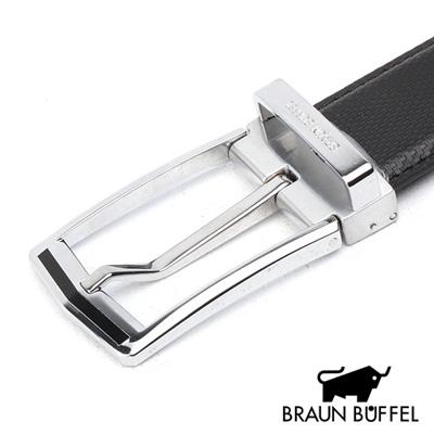 BRAUN BUFFEL - 格紋帶身穿針式皮帶