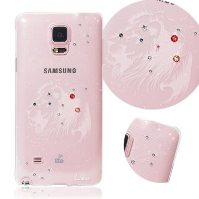 KnowStar 三星 Galaxy Note4 十二星座奧地利水晶彩繪手機鑽殼-獅子座