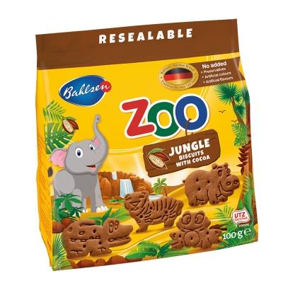 百樂順 動物造型餅乾-巧克力(100g)