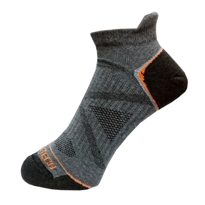 EGXtech 多功能X型繃 運動機能襪踝襪( FIX-2灰/橘) 2雙入