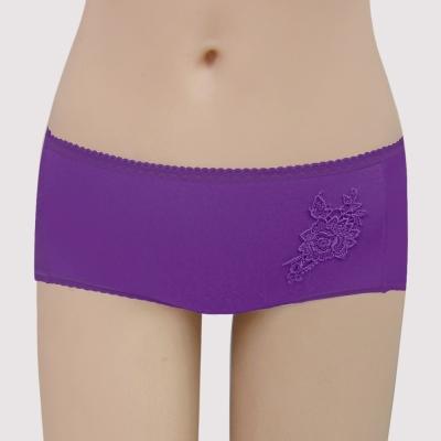 曼黛瑪璉 集中穩定V極線  低腰平口內褲(繡球紫)