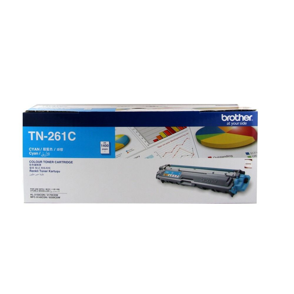 【福利品】Brother TN-261C 原廠藍色碳粉匣