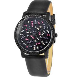 NATURALLY JOJO 絕對晶鑽時尚腕錶-黑夜璀璨/40mm