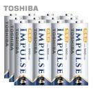 TOSHIBA IMPULSE 高容量低自放電電池(內附4號12入)