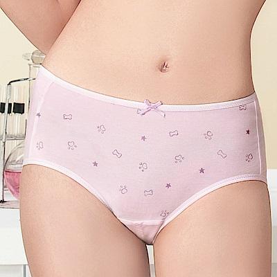 嬪婷 學生內褲 晶球牛奶 M-3L 中低腰生理褲(粉嫩紫)