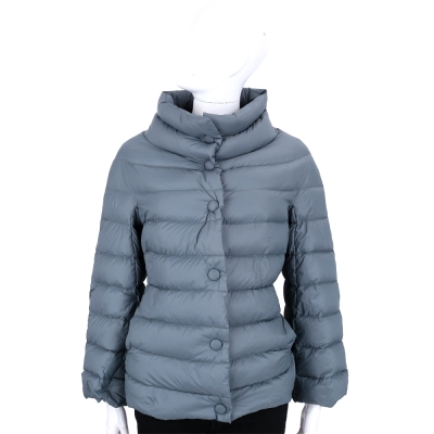 ARMANI COLLEZIONI 灰藍色立領車縫設計羽絨外套