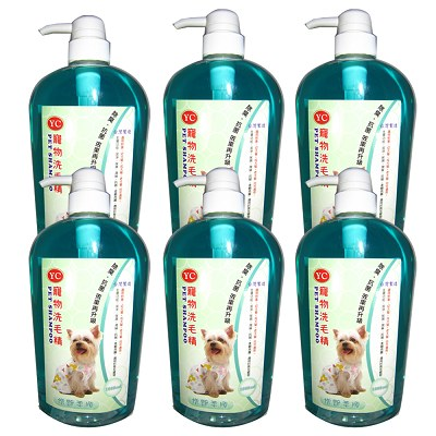 YC 寵物洗毛精1000ml 6瓶 增艷柔順-成、幼、犬、貓適用