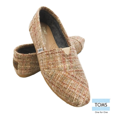TOMS 經典毛呢懶人鞋-女款(粉色)