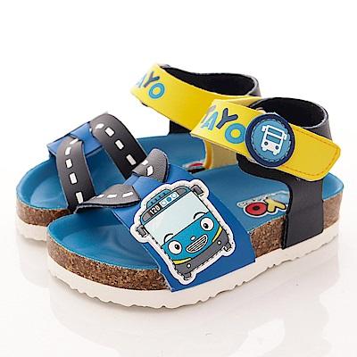 TAYO小巴士童鞋 新創軟木涼鞋款 EI3806 藍 (中小童段)