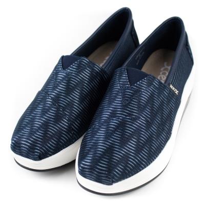 XCESS 女增高鞋 GW045NVY 立體波紋藍