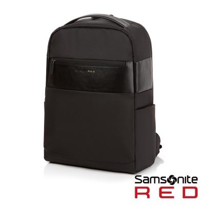 Samsonite RED ANTONN新穎潮流中性休閒筆電後背包-14吋(黑)