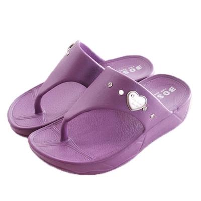 愛心俏麗夾腳女童拖鞋 紫 sk0145 魔法Baby