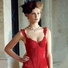 【La Felino】灩光女神3/4罩泡棉款B-D罩杯馬甲 (火焰紅)