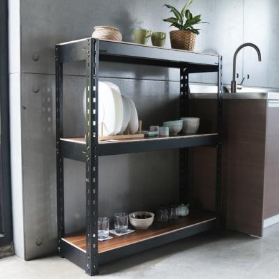 H&D 角鋼美學-工業風免鎖角鋼書櫃/收納櫃-2色(92x31x90cm)