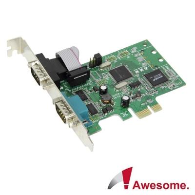 Awesome PCIe2埠RS-422/485 I/O卡-AWD-8352ER2-485