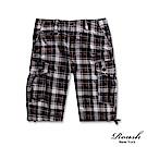 Roush 復古格紋雙口袋水洗短褲(2色)