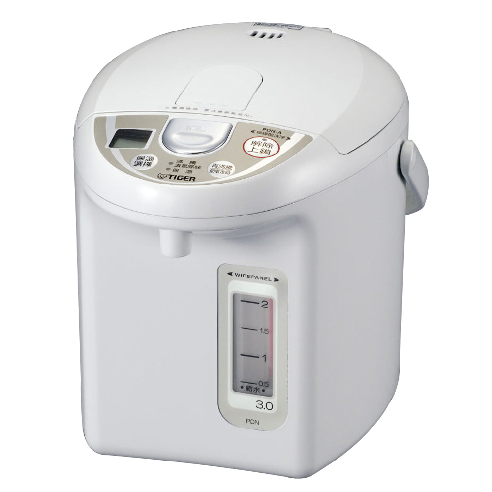 TIGER虎牌 超大按鈕電熱水瓶3.0L(PDN-A30R)