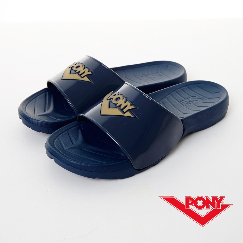 PONY-PARK系列-EVA發泡拖鞋-藍-中性